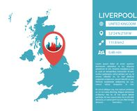 Liverpool map infographic vector isolated illustration vector illustration