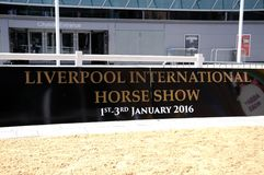 Liverpool International Horse Show sign. Royalty Free Stock Photos