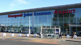 Liverpool John Lennon Airport Stockfotos