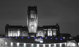 Liverpool katedralna noc Obraz Royalty Free