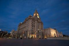 Liverpool kunglig leverbyggnad Arkivbilder