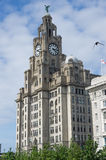 Liverpool liver royal building. Center royalty free stock image