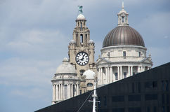 Liverpool liver royal building. Center Royalty Free Stock Photography