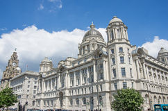 Liverpool liver royal building. Center Royalty Free Stock Images