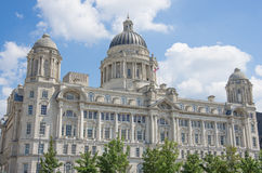 Liverpool liver royal building. Center Stock Photos