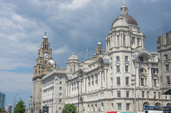 Liverpool liver royal building. Center Stock Photo