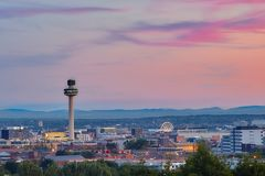 Liverpool. Sunset view Stock Photography