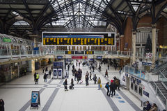 liverpool london station Arkivfoto