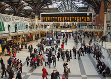 liverpool london stationsgata Royaltyfri Bild