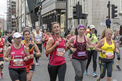 Liverpool Marathon 2017. Runners make their way around Liverpool city center Royalty Free Stock Photography