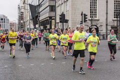 Liverpool Marathon 2017. Runners make their way around Liverpool city center Stock Photography