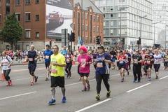 Liverpool Marathon 2017. Runners make their way around Liverpool city center Stock Photos