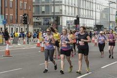 Liverpool Marathon 2017. Runners make their way around Liverpool city center Stock Images