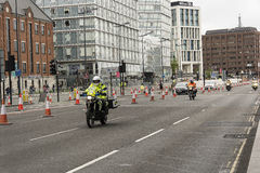 Liverpool Marathon 2017. Runners make their way around Liverpool city center Royalty Free Stock Image