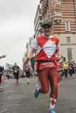 Liverpool Marathon 2017. Runners make their way around Liverpool city center Royalty Free Stock Photos