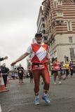 Liverpool Marathon 2017. Runners make their way around Liverpool city center Royalty Free Stock Photography