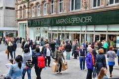 Liverpool Marks and Spencer stock fotografie