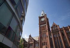 Liverpool, Merseyside, het UK - 24 Juni 2014, Victoria Gallery & Museum - Victoria Building, Universiteit van Liverpool royalty-vrije stock fotografie