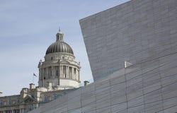 Liverpool, Merseyside, Reino Unido - 24 de junho de 2014, porto da construção da autoridade de Liverpool foto de stock