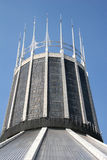 Liverpool Metropolitan cathedral. Tower with stained glass panels Royalty Free Stock Image