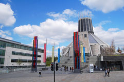 Liverpool Metropolitan Cathedral entrance Stock Image