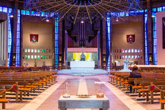 Liverpool Metropolitan Cathedral inside A. ENGLAND, LIVERPOOL - 15 NOV 2015: Liverpool Metropolitan Cathedral inside A Royalty Free Stock Image