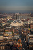 Liverpool Metropolitan Cathedral. A view of Liverpool Metropolitan Cathedral from above Royalty Free Stock Photo