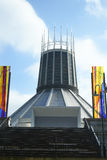 Liverpool Metropolitan Catholic Cathedral of Christ the King. Affectionately known as Paddy`s Wigwam. During the Great Irish Famine 1845–1852 the Catholic Royalty Free Stock Photo