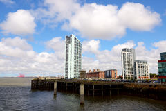 Liverpool modern canalside buildings Royalty Free Stock Image