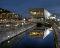 Liverpool Museum at night royalty free stock photo