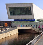 Liverpool - Museum of Liverpool - United Kingdom. The Museum of Liverpool on the waterfront of the River Mersey in the city of Liverpool in north west England stock photos