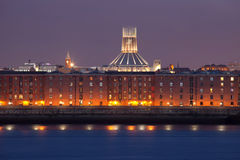 Liverpool night cityscape Royalty Free Stock Photos