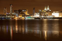 Liverpool night cityscape Stock Photo