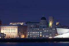 Liverpool night cityscape Royalty Free Stock Photography