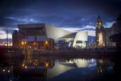 Liverpool no crepúsculo fotografia de stock