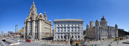 Liverpool Panoramic Stock Photo