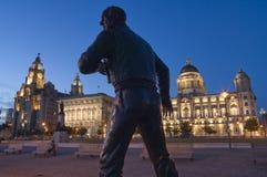 Liverpool - pista del embarcadero Imágenes de archivo libres de regalías