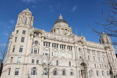 Liverpool Port Authority. Liverpool - city in Merseyside county of North West England (UK). Pier Head district, part of UNESCO World Heritage Site. Port of Stock Image