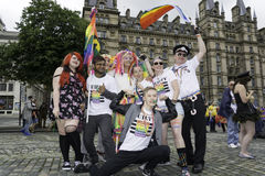 Liverpool Pride - Love is no Crime Stock Photos