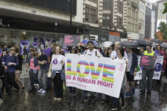 Liverpool Pride - Love is no Crime Royalty Free Stock Photo
