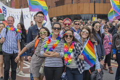 Liverpool Pride 2017. Liverpool, UK - July 29 2017: Liverpool Pride is the city's annual celebration of the Lesbian, Gay, Bisexual and Trans community LGBT Stock Images
