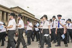 Liverpool Pride 2017. Liverpool, UK - July 29 2017: Liverpool Pride is the city's annual celebration of the Lesbian, Gay, Bisexual and Trans community LGBT Royalty Free Stock Photos