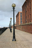 Liverpool Promenade. Walkway Alongside the Mersey River in Liverpool and the Albert Dock stock photos