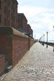 Liverpool Promenade. Walkway alongside the river Mersey in Liverpool, England royalty free stock photo