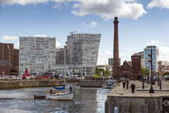 Liverpool pumphouse. LIVERPOOL, UNITED KINGDOM - JUNE 10, 2014: The Dock's former  originally built in 1870 and lovingly restored as a cosy public house Royalty Free Stock Images