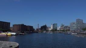 Liverpool que mira la ciudad del área de muelle 4K
