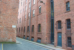 Liverpool que trabalha a arquitetura do tijolo vermelho Fotografia de Stock