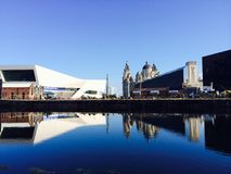 Liverpool reflection Stock Images