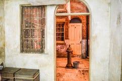 Liverpool, Reino Unido - 3 de abril de 2015 - reconstrução de Pembroke Place no museu de Liverpool fotos de stock royalty free