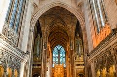 Liverpool, Reino Unido - 3 de abril de 2015 - vista interior da catedral de Liverpool Fotos de Stock